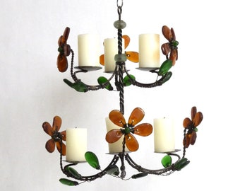 Spring Bouquet Candle Chandelier
