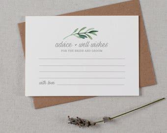 Advice For The Bride & Groom Cards, Wedding Advice Cards, Advice Card Template, Printable Advice Cards, Wedding Advice Template - KPC02_401