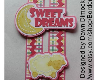 Sweet Dreams digital design cut file