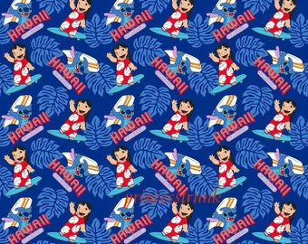 NEW Handmade Rare Disney Lilo Stitch Hawaii Blue Dress Custom Size