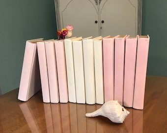 Painted Books, Decorative Books, French Country Decor, Rustic Wedding Decor, Home Decor, Instant Library, Rustic Books, Bridal Shower