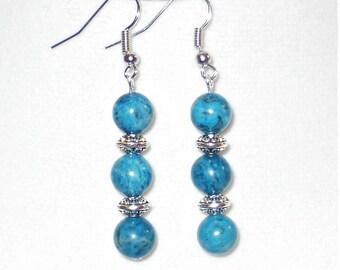 Blue Picasso Jasper Earrings