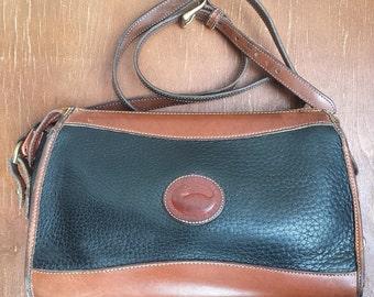 1980's Dooney & Bourke AWL handbag - black and brown