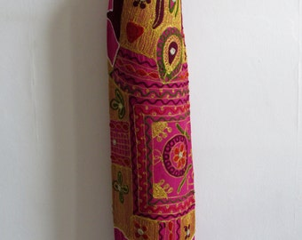 Yoga Mat Bag Pilates Mat Bag handmade Pink bag with Tapestry Indian Elephant  free UK delivery (b16) Free gift