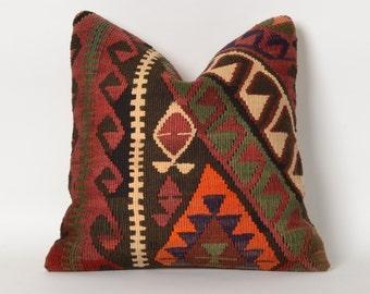 kilim, pillow cover, decorative pillows, aztec pillow, turkish kilim pillow, southwestern pillow, home decor, tribal pillow cover, tribal