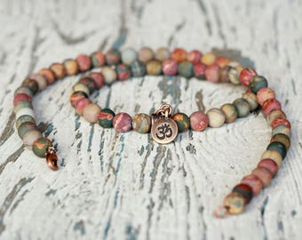 om necklace ohm charm charm necklaces mala beads women gift yoga meditation tibetan om jewelry gemstones healing stones beads