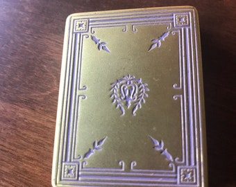 Rare Vintage Melba Gold Plated Compacte