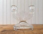 Vintage Cut Glass Double ...