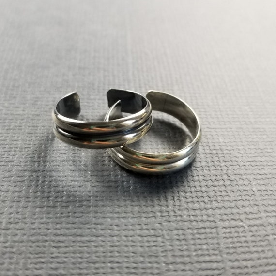 Sterling Silver Double Half Round Toe Ring Body Jewelry Silver Body Jewelry Silver Minimalist Jewelry Modern Simple Jewelry Summer Fashion