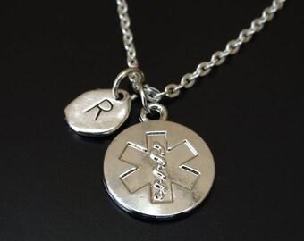 Paramedic necklace paramedic charm paramedic pendant star of life necklace star of life charm star of life pendant star aloadofball Image collections