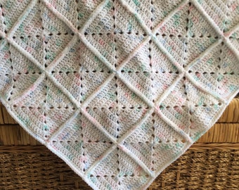 50x50cm Crocheted Baby Blanket