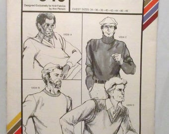 Stretch and Sew 540 Mens Pullovers UNCUT