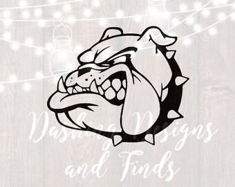 DIGITAL DOWNLOAD bulldog svg - bulldogs svg - football svg - mascot svg - cheerleader svg - team spirit svg - svg file - cut file