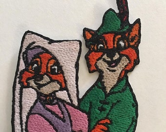 Iron On Patch Disney Inspired Fan Art Maid Marian and Robin Hood (3 design options)
