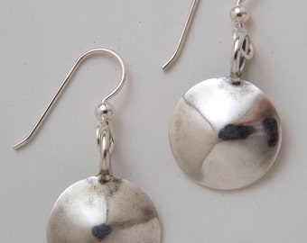 Dimes Silver Circle Earrings made from Vintage US Silver Mercury Dimes