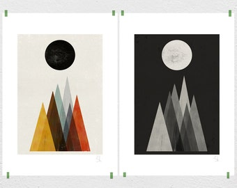 Eclipse set of two prints