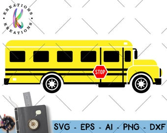School Bus Clipart Yellow bus svg back to school svg school bus svg iron on cut file Cricut Silhouete Instant Download vector SVG png dxf