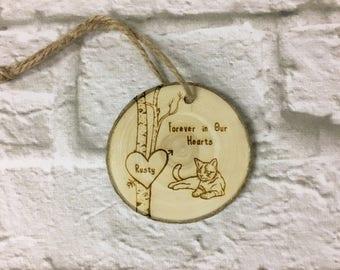 Pet Memorial Ornament | Cat Memorial | Cat Sympathy | Loss of Cat | Remembrance Ornament | In Memory of Cat | Pet Christmas Ornaments