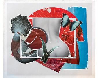 Flight | original collage art print