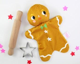 Gingerbread Man Rattle Blankie