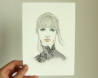 "FINE ART Print | Binary Lace | 5"" x 7"" 