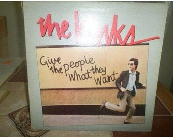 Vintage 1981 Vinyl LP Record Give the People What They Want The Kinks Excellent Condition 4464