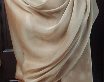 Gold Chiffon  XL  Shwal Wrap with Rhinestones