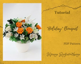 PDF pattern DIY beading project Seed bead pattern Table Centerpiece Lower stem Patterns & How To Floral Arrangements Beaded flowers