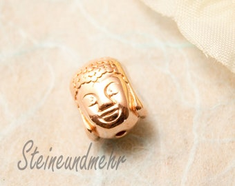 1x Buddha Pearl rose gold plated #4826