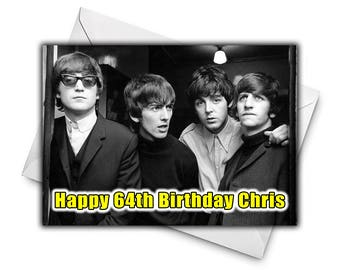 Beatles birthday etsy the beatles personalised birthday greetings card large size a5 personalized birthday card music bookmarktalkfo Choice Image