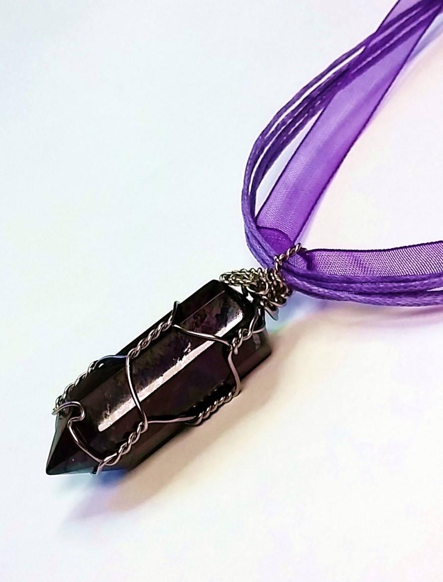 Deep purple pendant charoite pendant polished purple pendants deep purple pendant charoite pendant polished purple pendants pendulum pendants faceted pendants adjustable length pendant mozeypictures Images