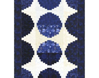 Circle Log Cabin Quilt ePattern, 5083-e, pieced lap Quilt, log cabin quilt pattern