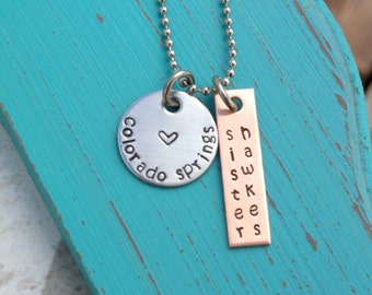Hand Stamped Necklace - Sister Missionary Necklace - Missionary Mom Necklace - Elder - Mom Gift - Girlfriend Gift - Gift for a Missionary