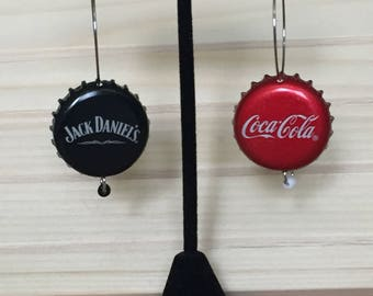 Jack & Coke Beerings! Made from up-cycled bottle caps.