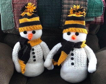 Crocheted Snowmen (sold separately)