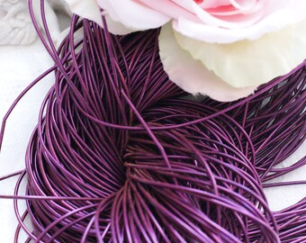 Violet Purl-Goldwork Purl-Gold Wire-Metallic Rough Wire- Dapka