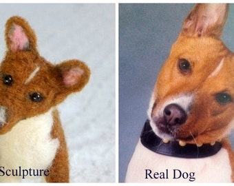 Needle Felted Animal / Dog Memorial / Your Pet in Miniature from your photos / example Besenji