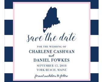 SAVE THE DATE- custom save the date with state and area