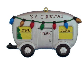 Personalized RV Camping Ornament - Happy Campers Personalized Christmas  Ornament