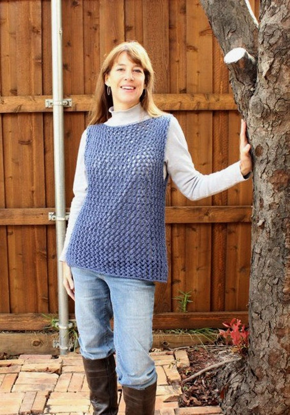 Knitting Pattern For Sweater Knitted Vest Pattern Easy Knit