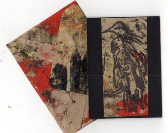 Vulture ATC ACEO with matching envelope