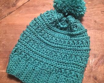 Crochet Beanie with Pom Pom