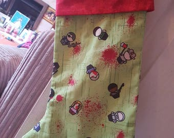 The Walking Dead inspired Christmas stocking