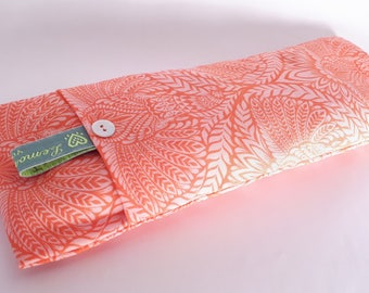 Soothing Lavender Eye Pillows - Coral elephant pattern
