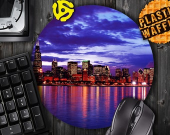 Chicago Skyline #1 Round MousePad