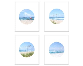 Set of 4 COASTAL PRINTS, Printable Wall Art, Coastal Wall Art, Digital Download, Beach Cottage Decor, Coastal Art, Beach, Ocean, Waves, Sand
