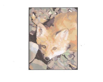 Part 2 Digital Needlepoint Fox Pattern