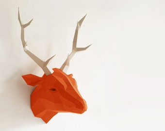 Original Papercraft kit Deer, Paper Sculpture Paperwolf