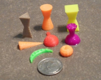 Board game food tokens