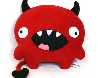 Love Devil red plush designer toy